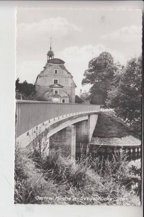 3136 GARTOW, Kirche mit Seegebrücke