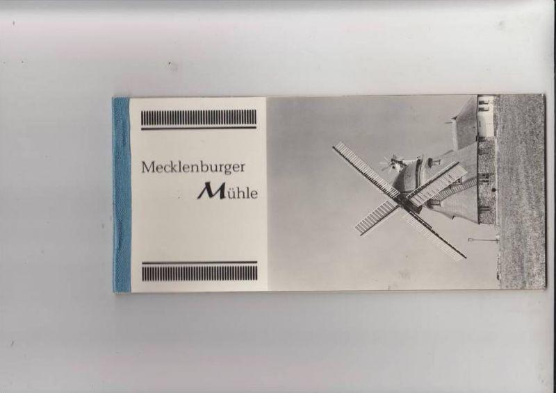 MÜHLE - Molen - mill, Windmühle Groß Stieren, Mecklenburger Mühle, Restraurant, 8 AK-Leporello