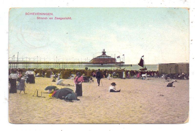 ZUID-HOLLAND - SCHEVENINGEN, Strand- en Zeegezicht, 1913