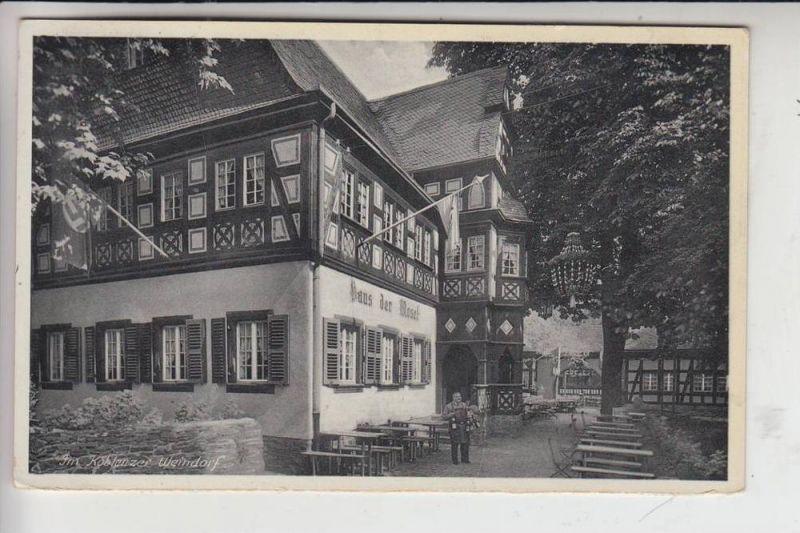 5400 KOBLENZ, Im Koblenzer Weindorf, NS-Beflaggung 1939, kl. Klebetreifen rückseitig 0