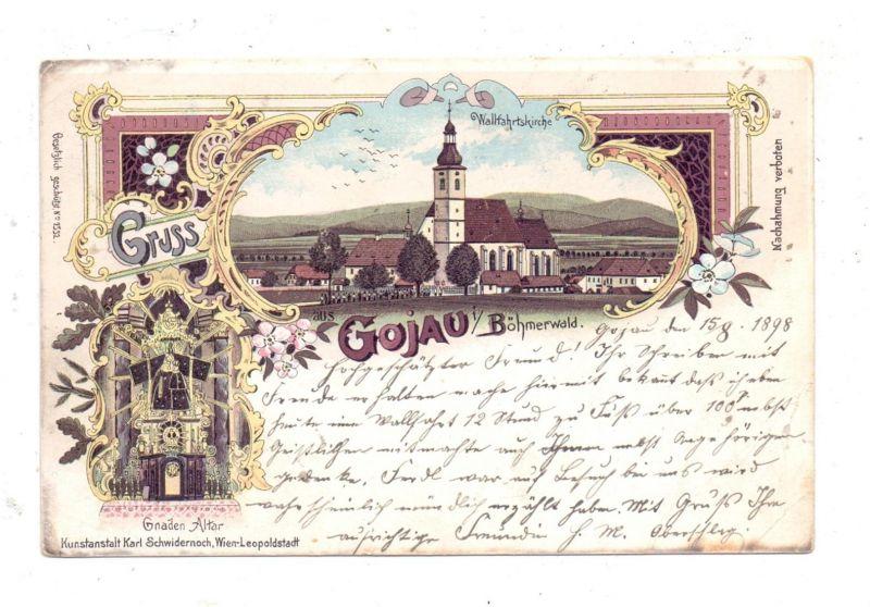BÖHMEN & MÄHREN - GOJAU / KAJOV, Lithographie1898, Wallfahrtskirche, Gnaden-Altar