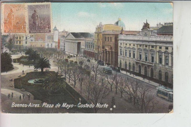 ARG - ARGENTINIEN - BUENOS AIRES, Plaza de Mayo 1913, Knick, AF