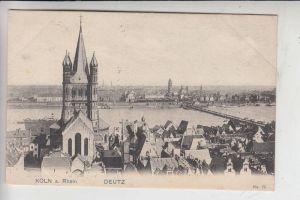 5000 KÖLN - DEUTZ, Blick von Deutz, Eckdruckstellen v. Album