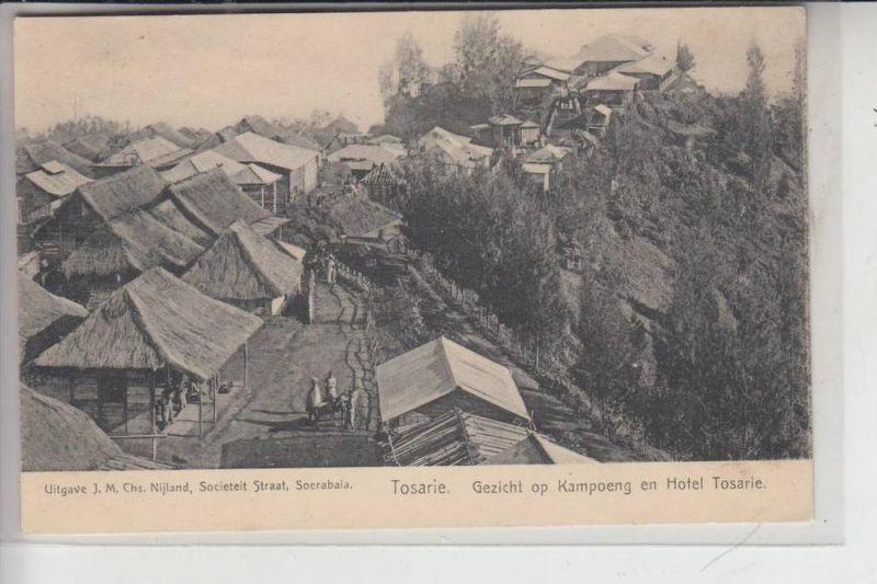 INDONESIEN - KAMPOENG, Gezicht op Kampoeng en Hotel Tosarie, early card - undivided back
