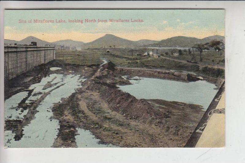PANAMA - Panama Canal - Site of Miraflores Lake, looking North from Miraflores Locks