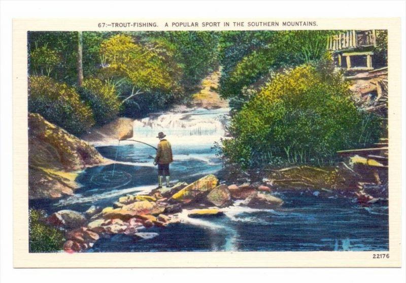 FISCHEN - ANGELN Trout Fishing, USA North Carolina