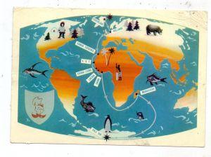 GRÖNLAND / GREENLAND - Map / Landkarte, 1957, Einriss