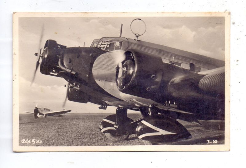 MILITÄR - 2.Weltkrieg, Wehrmacht, Junkers Ju 52, rückseitig Klebereste