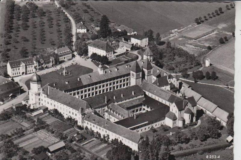 A 8732 SECKAU, Benediktiner-Abtei, Luftaufnahme