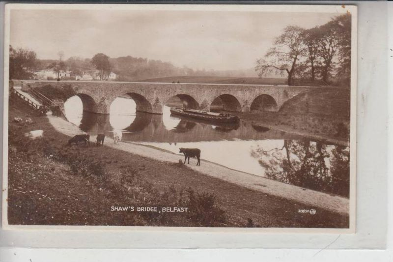 UK - NORTH IRELAND - BELFAST, Shaw's Bridge 1938, stamp missing