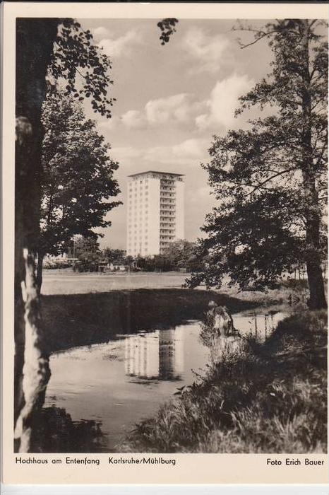 7500 KARLSRUHE - MÜHLBURG, Hochhaus am Entenfang