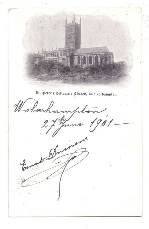 UK - ENGLAND - STAFFORDSHIRE - WOLVERHAMPTON, St. Peter's Collegiate Church, 1901