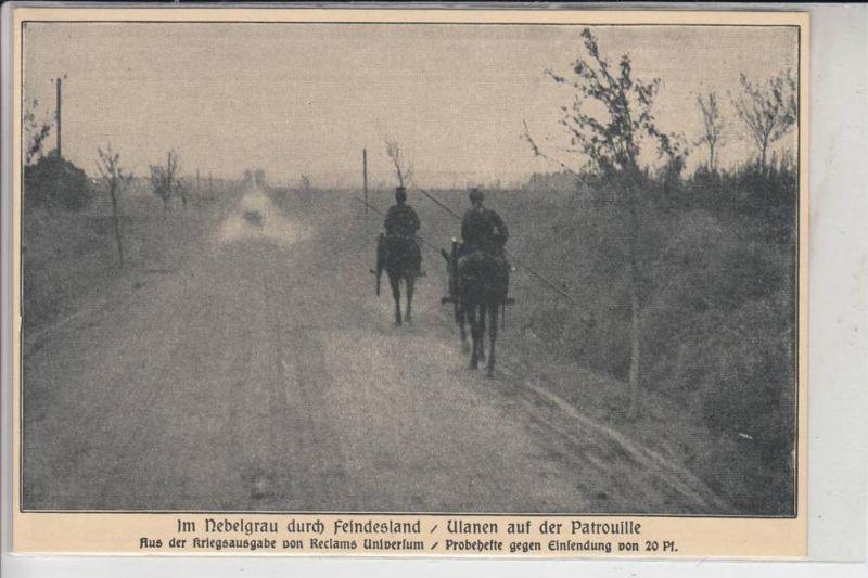MILITÄR - 1.Weltkrieg - Ulanen auf der Patrouille