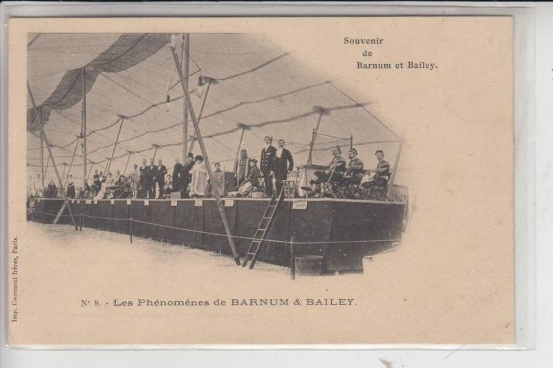ZIRCUS - CIRCUS, BARNUM & BAILEY, Les Phenomenes, early card - undivided back