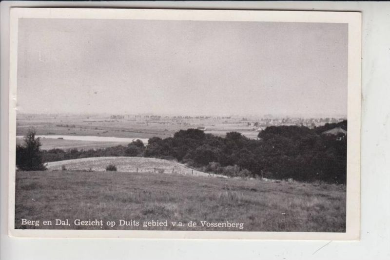 NL - GELDERLAND - GROESBEEK - BERG EN DAL, Gezicht op Duits gebied, Blick auf Zyfflich 1957