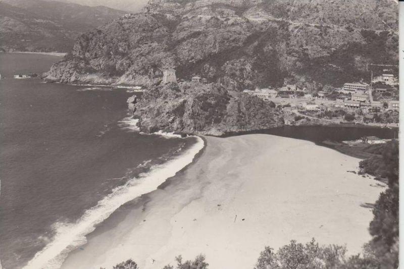 F 20137 PORTO, La plage, Vue airienne 1964