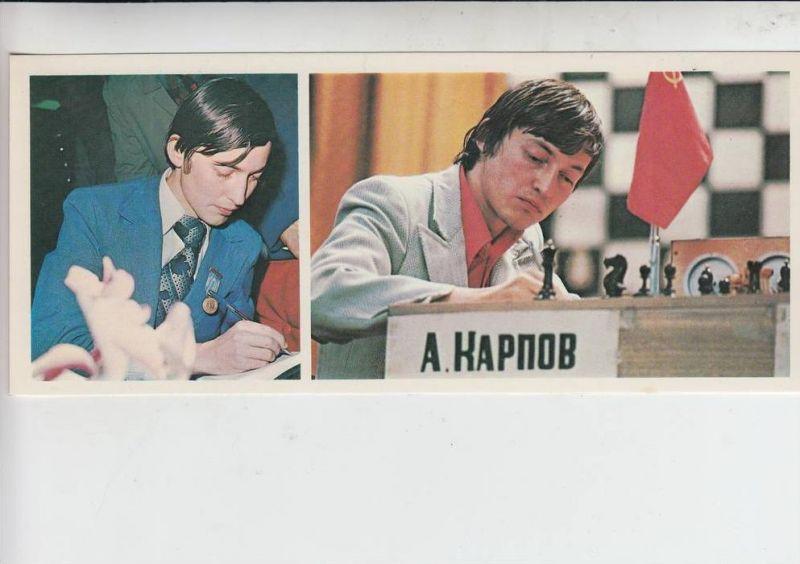 SPORT - SCHACH, Anatoly Karpow, Schachweltmeister, 1980,  XL-Format