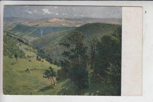 KÜNSTLER - ARTIST - HANS VON VOLKMANN - Waldtal in der Eifel, gemalt 1895