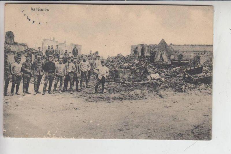 MILITÄR - 1.Weltkrieg - Westfront, 1915, Varennes, deutsche Feldpost
