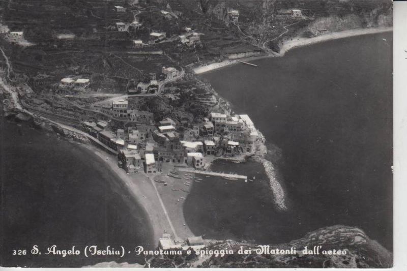I 80070 SAN ANGELO, Ischia, Panorama e Spiaggia dei Matoni dall'aereo 1964