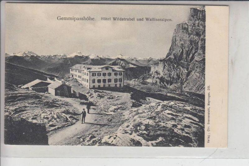 CH 3954 LEUKERBAD, Gemmipasshöhe, Hotel Wildstrubel, frühe Karte - ungeteilte Rückseite