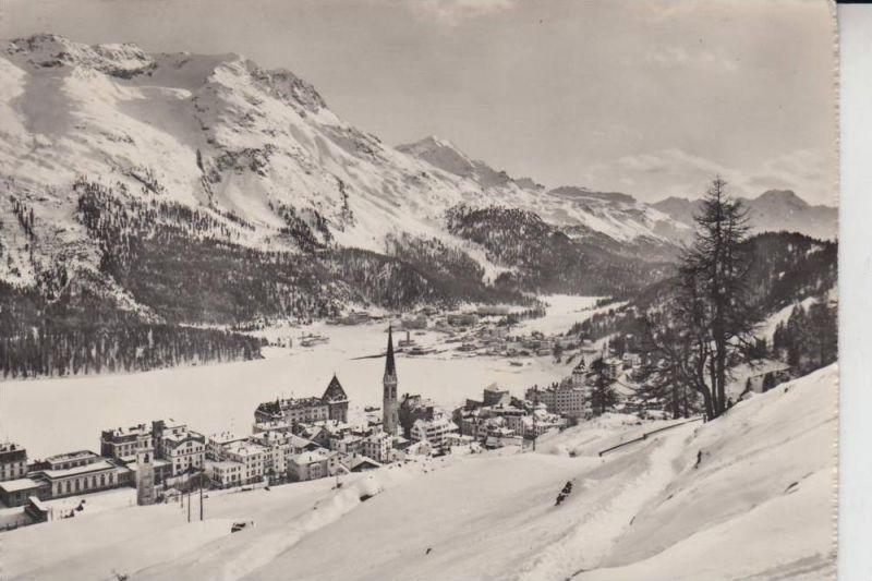 CH 7500 SANKT MORITZ, Dorf & Bad 1948, Briefmarke fehlt