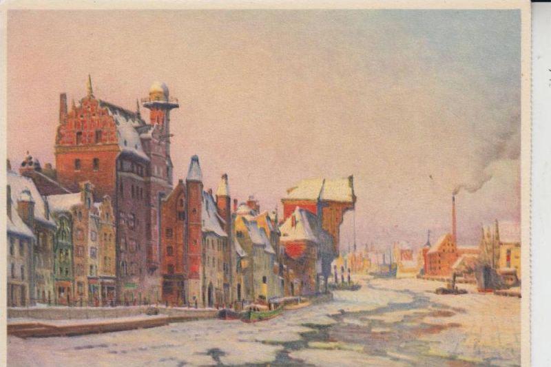 DANZIG, Künstler-Karte Th. Urinowsky, Krahntor