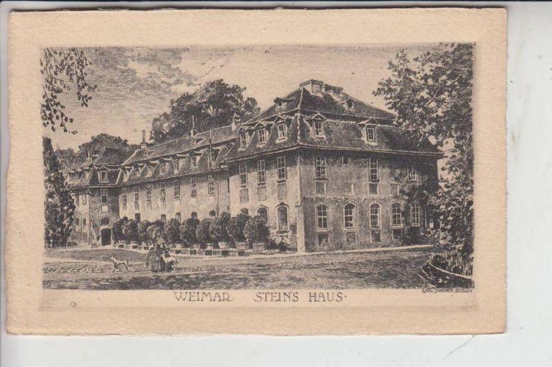 0-5300 WEIMAR, Steins Haus, Künstler-Karte Jander/Berlin