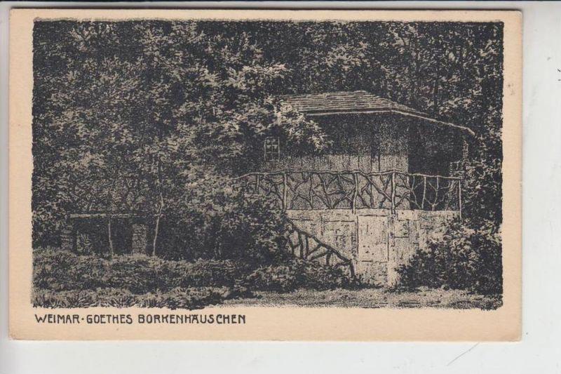 0-5300 WEIMAR, Goethes Borkenhäuschen, Künstler-Karte Jander/Berlin