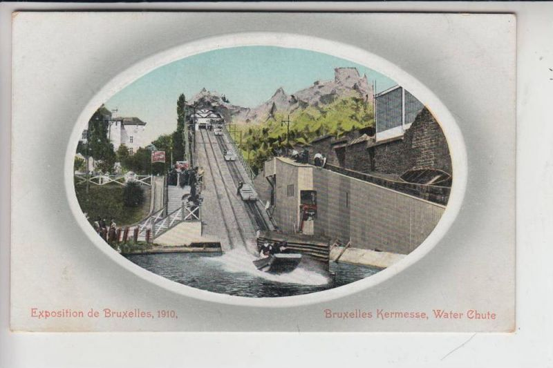 KIRMES - Funfair - Kermis - Fete Foraine - Luna Park,  Water-Chute, Exposition Brussel 1910