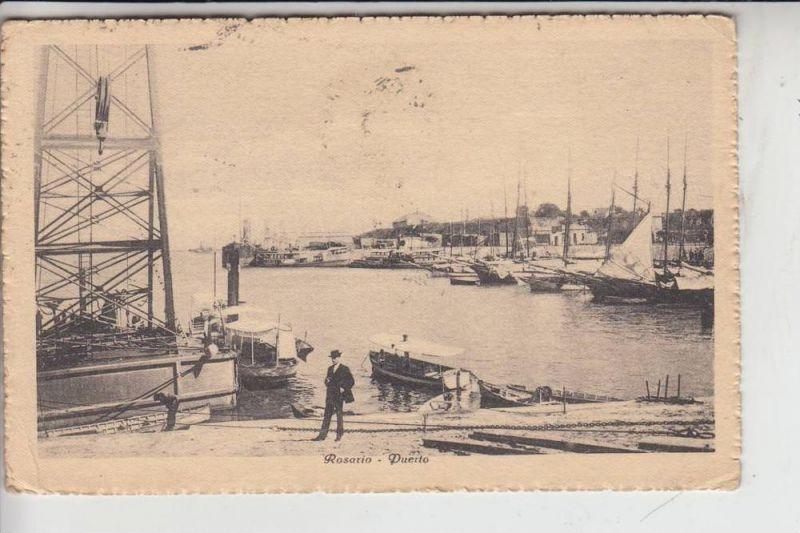 ARGENTINIEN - ROSARIO / Puerto, 1924, stamp missing