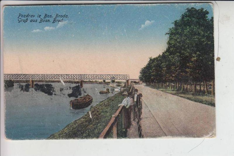 BIH - BOSNIEN - BOZN. BROD, Gruss aus..., Brücke