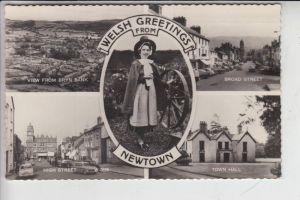 UK - WALES - MONTGOMERYSHIRE - NEWTOWN, Welsh Greetings from ... 1960