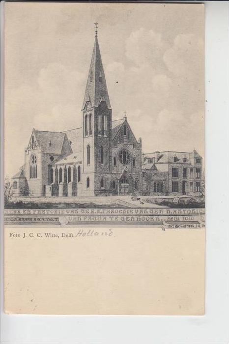 NL - NOORDHOLLAND - TEXEL - DEN HOORN, 1917, Kerk van der h. Antonius van Padua, Militärpost