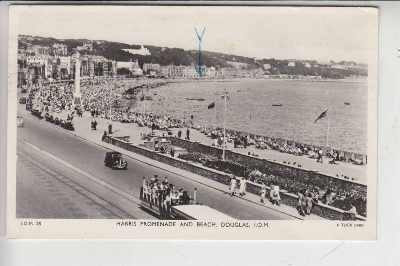 UK - ENGLAND - ISLE OF MAN, DOUGLAS, Harris Promenade & Beach 1955