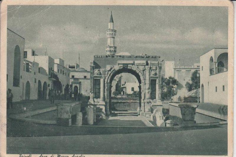 LAR - LIBYEN - TRIPOLI - Arco di Marco Aurelio 1942, written from a german in II.WW