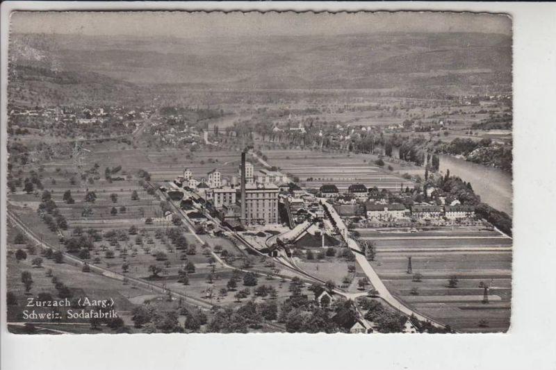 CH 5330 ZURZACH, Schweiz.Sodafabrik Luftaufnahme 1958, Briefmarke fehlt