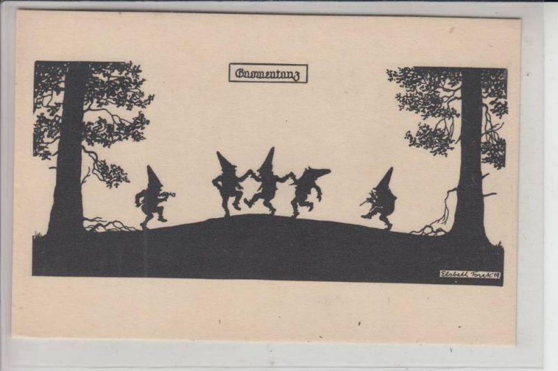 KÜNSTLER - ARTIST - ELSBETH FORCK - Zwerge,Gnome, Elfen Schattenbild