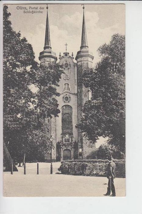 DANZIG - OLIVA, Portal der Schlosskirche