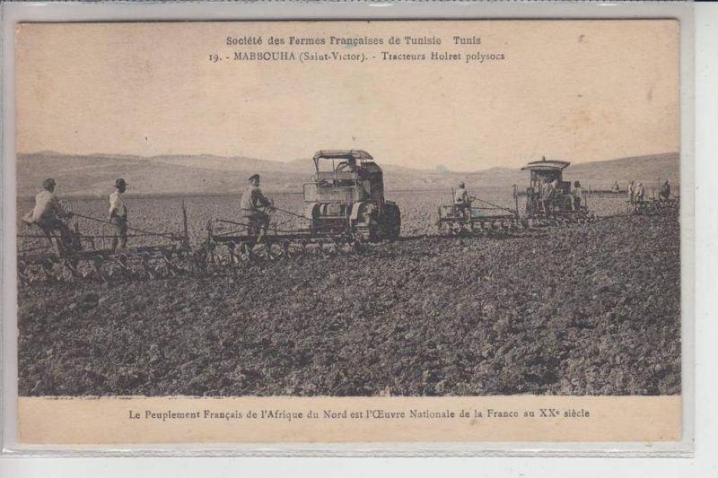 LANDWIRTSCHAFT -TRAKTOR - Mabbouha Tunesien, Tracteurs Holret polysocs