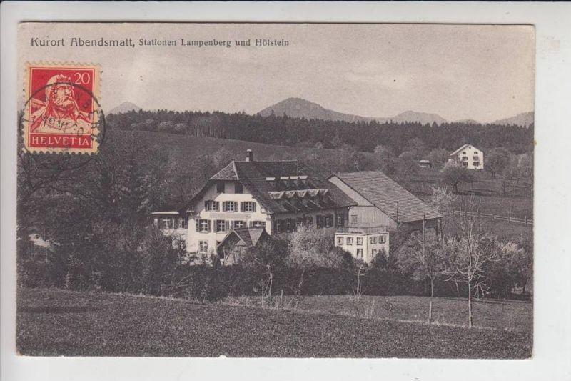 CH 4432 LAMPENSBERG, Kurort Abendsmatt 1910, Verlag: Metz-Basel