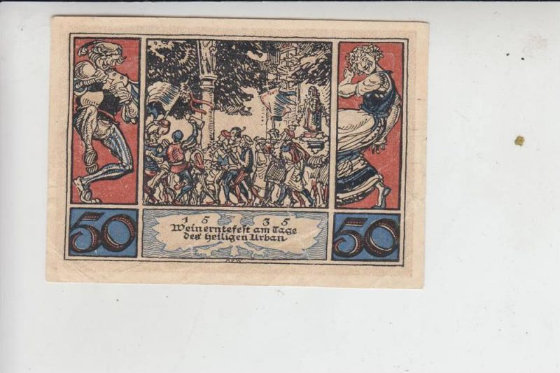 LANDWIRTSCHAFT - WEIN - Weinerntefest am Tage des heiligen Urban 1535, Notgeld Arnstadt