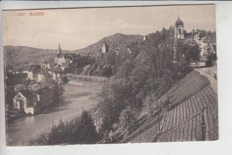 CH 5400 BADEN, Ortsansicht 1913