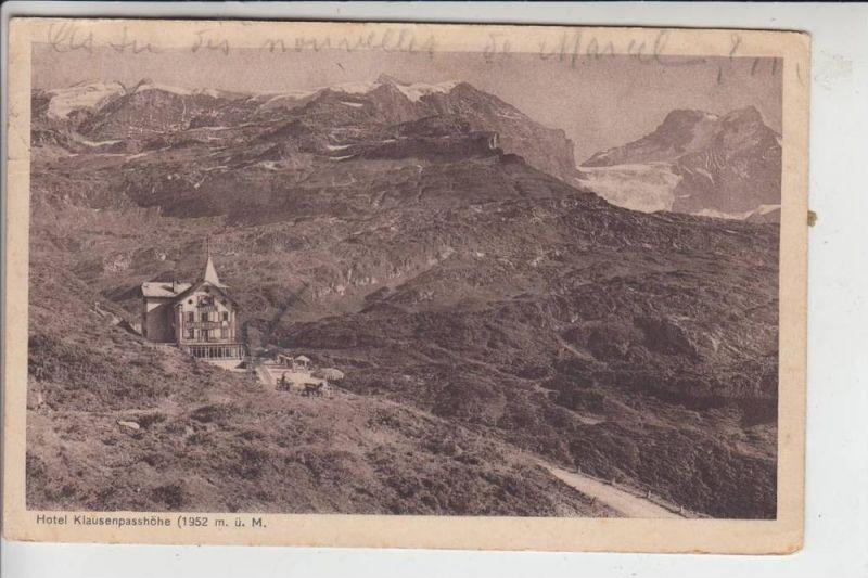 CH 6465 BALM, Hotel Klauserpasshöhe, Briefmarke fehlt