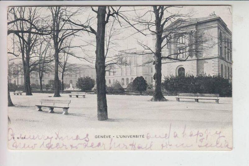 CH 1200 GENF - GENEVE, L'Universite, 1902