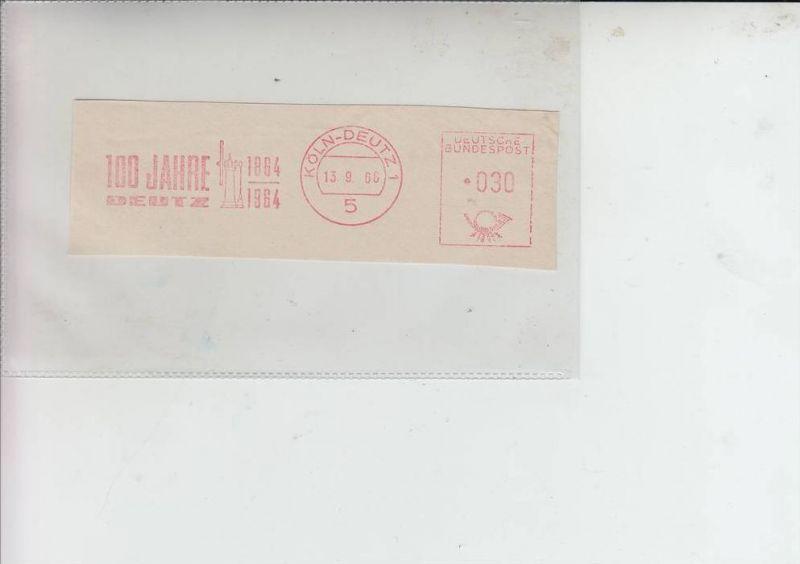 LANDWIRTSCHAFT - TRAKTOREN - Maschinen-Werbe-Stempel 100 Jahre Deutz Motoren 1966 Köln-Deutz