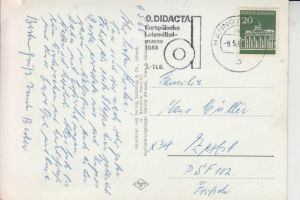 SCHULE - 9.Didacta Europäische Lehrmittelmesse 1968, Werbestempel Hannover