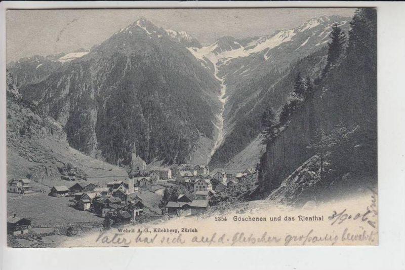 CH 6487 GÖSCHENEN und das Rienthal 1906