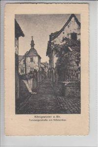 5330 KÖNIGSWINTER, Tombergerstrasse mit Klösterchen 1936, Künstler-Karte A.E.Euchler