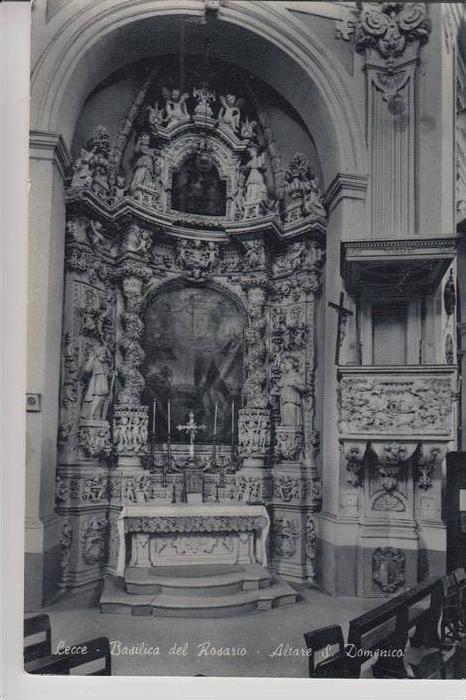 I 73100 LECCE, Basilica del Rosario, Altare S.Domenico